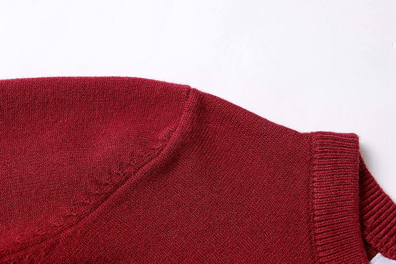 SMILING PINKER Girls Cardigan Sweater School Uniforms Button Long Sleeve Knit Tops