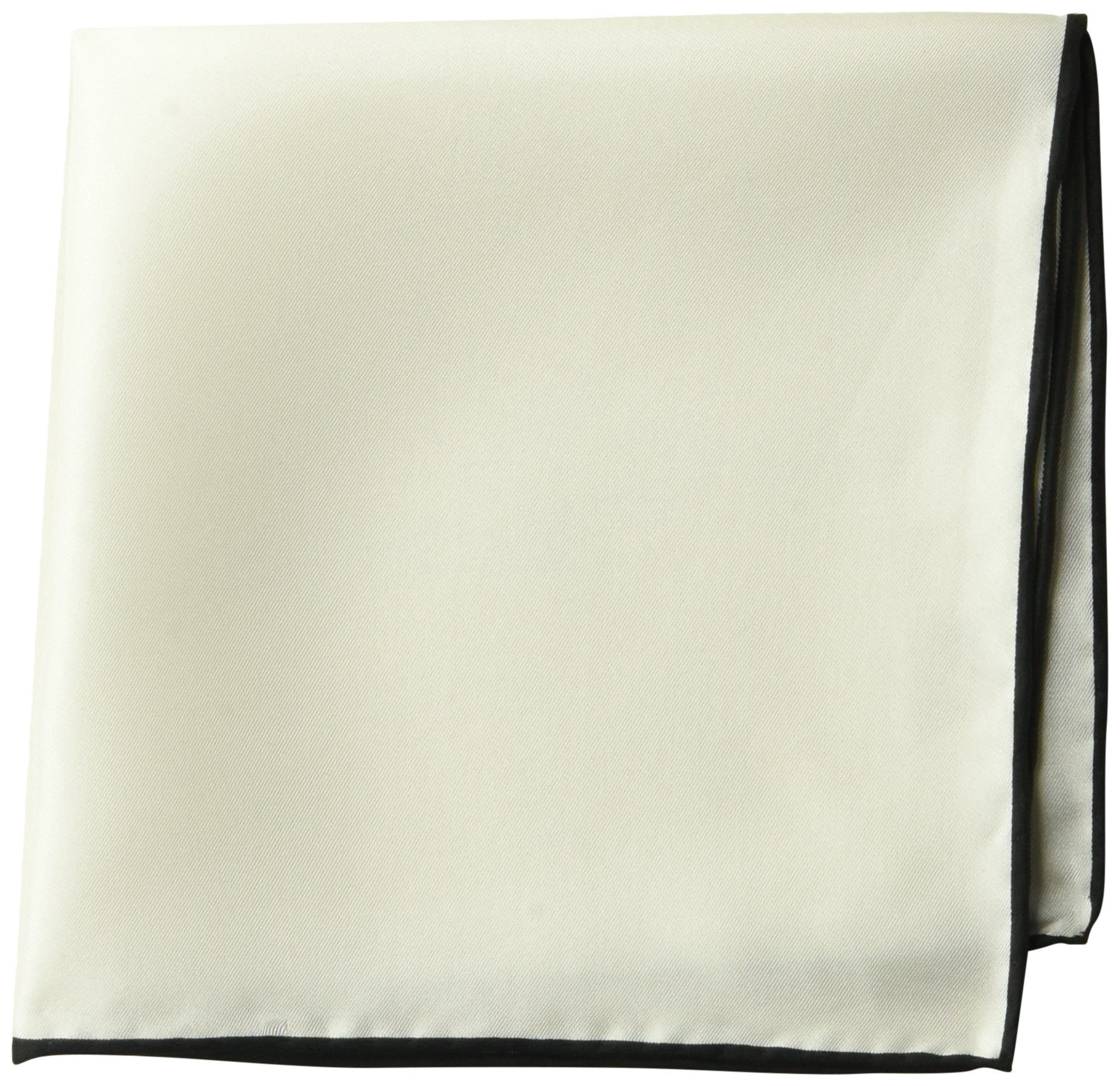 BUTTONED DOWN Men's Classic Silk Hand Rolled Pocket Square, solid white, One Size by Buttoned Down