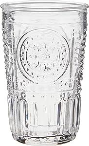 Bormioli Rocco Romantic Water Glass, 11.5 oz., Set of 6 , Clear
