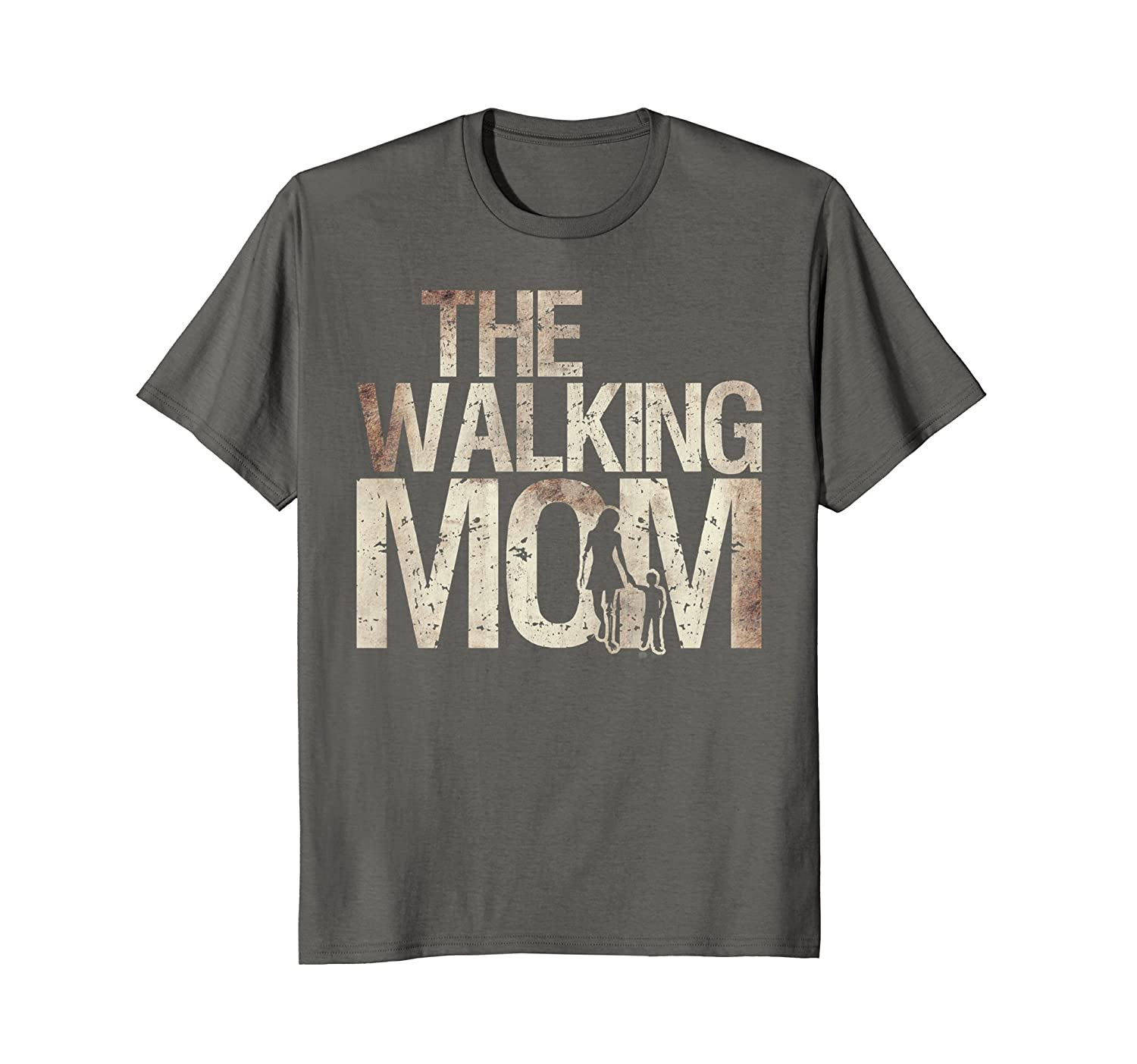Walking Mom Shirt Zombie Woman And Kid Mother's Day Tee-TH
