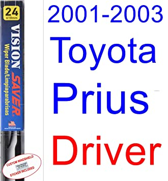 Amazon.com: 2001-2003 Toyota Prius Wiper Blade (Driver) (Saver Automotive Products-Vision Saver) (2002): Automotive