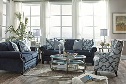 Amazon.com: Signature Design by Ashley LaVernia Living Room Set with ...