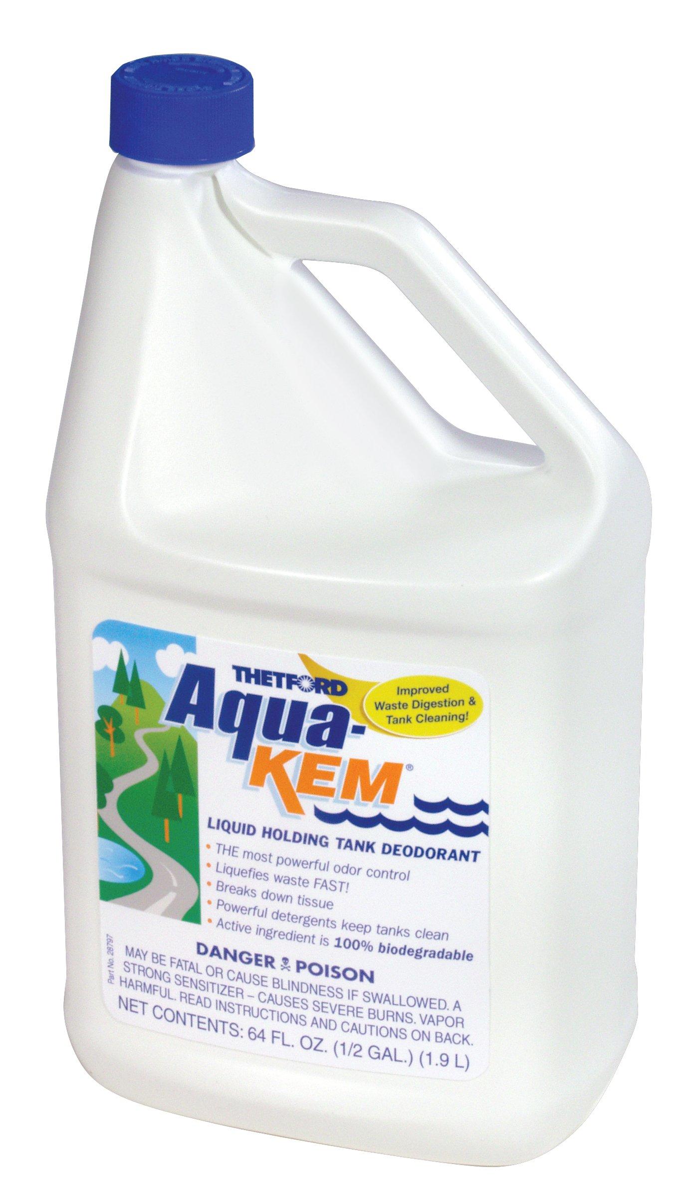 Thetford Aqua-Kem RV holding tank treatment - Deodorant/Waste Digester/Detergent - 64 oz 24260