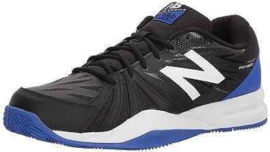 New Balance Men's Cushioning Tennis Shoe, White/Blue, 13 4E US