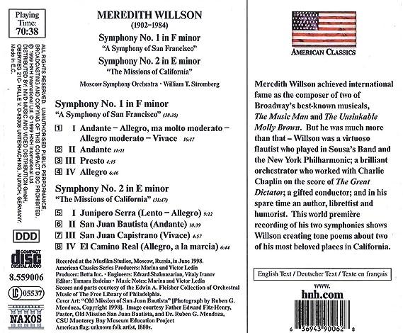 Symphony 1 In F Minor Symphony 2 In E Minor William T Stromberg