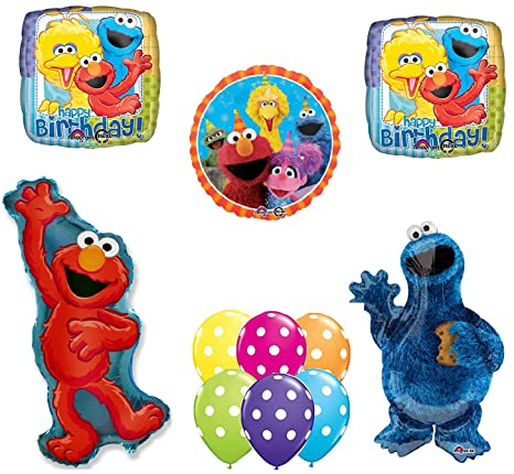 Amazon Sesame Street Elmo Cookie Monster Happy Birthday Party