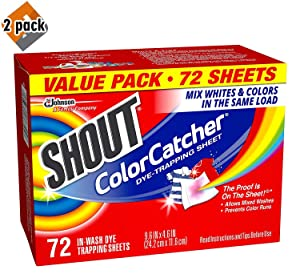 Shout Color Catcher Dye Trapping Sheets, 72.0 Count - 2-Pack