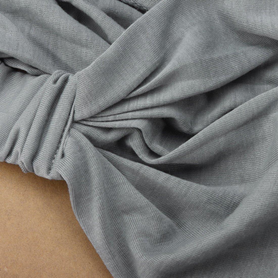Banda de Cabeza de Pelo Moderno Panuelo de Pelo Banda de Cabeza para Deporte Yoga Carrera a pie Ocio Negro TOOGOO(R))))