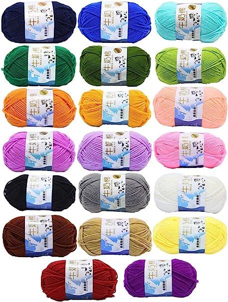 Kurtzy Fil pour Crochet (10 pièces) - Fil de Coton pour Crochet 20 ... | 606x461