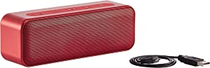 AmazonBasics 15-Watt Bluetooth Stereo Speaker with Water Resistant Design - Red
