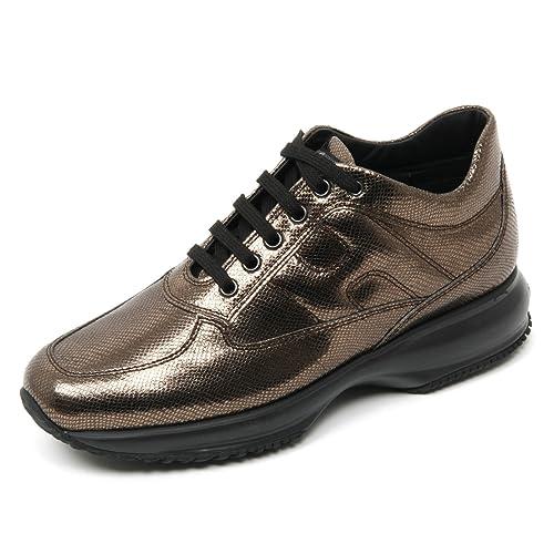 B9352 sneaker donna brown HOGAN INTERACTIVE scarpa shoe woman