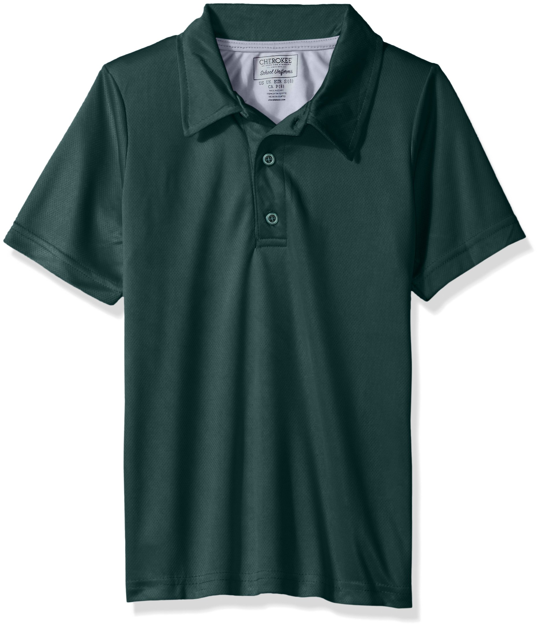 Cherokee Boys' Uniform Short Sleeve Performance Polo Shirt