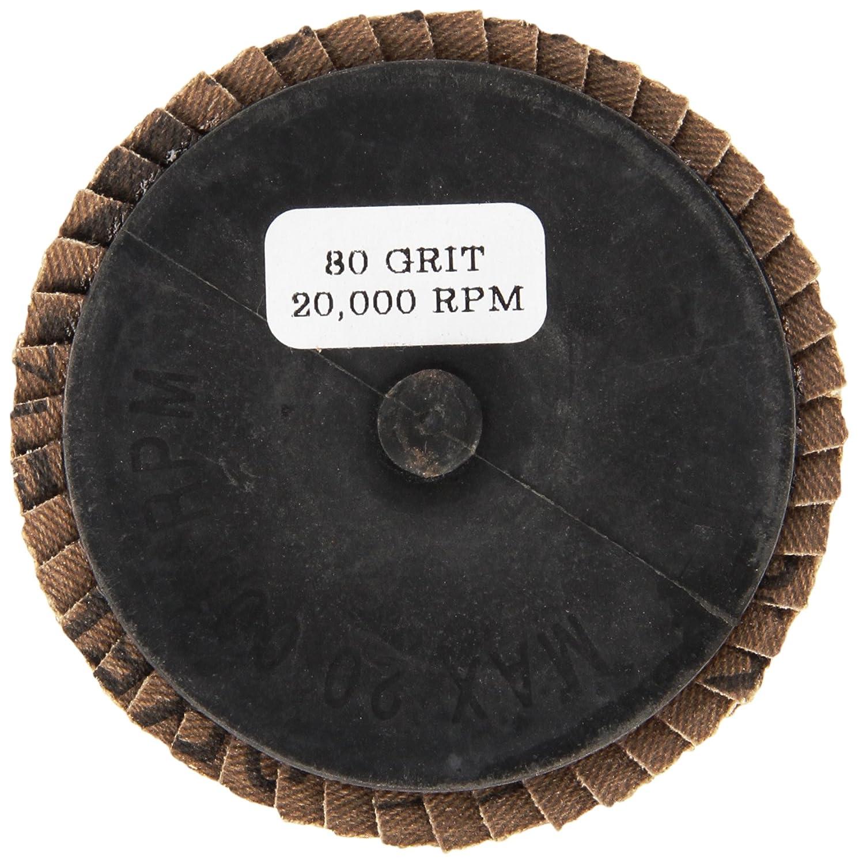 Grit-80 5-Pack Shark 73759    3-Inch Aluminum Rolock Mini Flap Disc