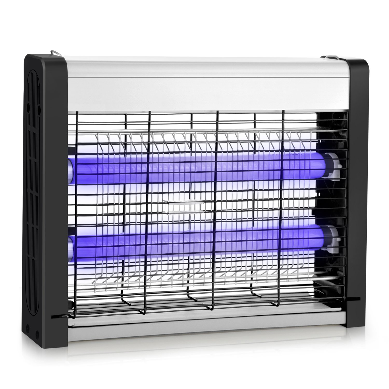 Electric Bug Zapper, Indoor Fly Insect Killer Catcher with 20W UV Light Replaceable Bulbs-Mosquito, Moth, Fly Killer, etc. Suitable for Hanging & Standing in Residential and Commercial Use (15.35) Ersoth