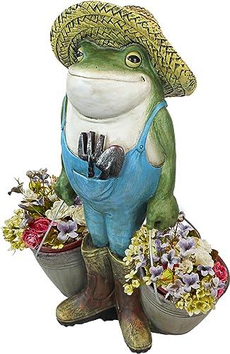 Design Toscano HF300718 Buckets The Garden Frog Statue