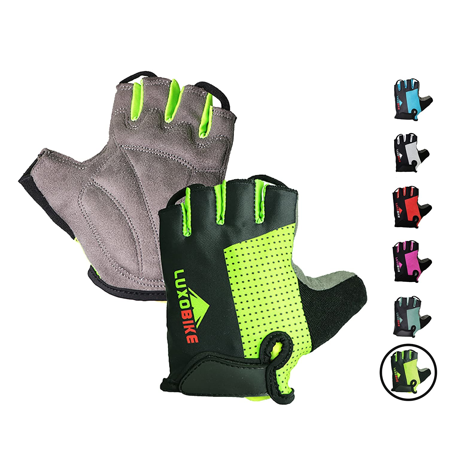 Anti Slip Shock Absorbing Padded Breathable Half Finger Short Sports Gloves Accessories for Men//Women LuxoBike Cycling Gloves Bicycle Gloves Bicycling Gloves Mountain Bike Gloves