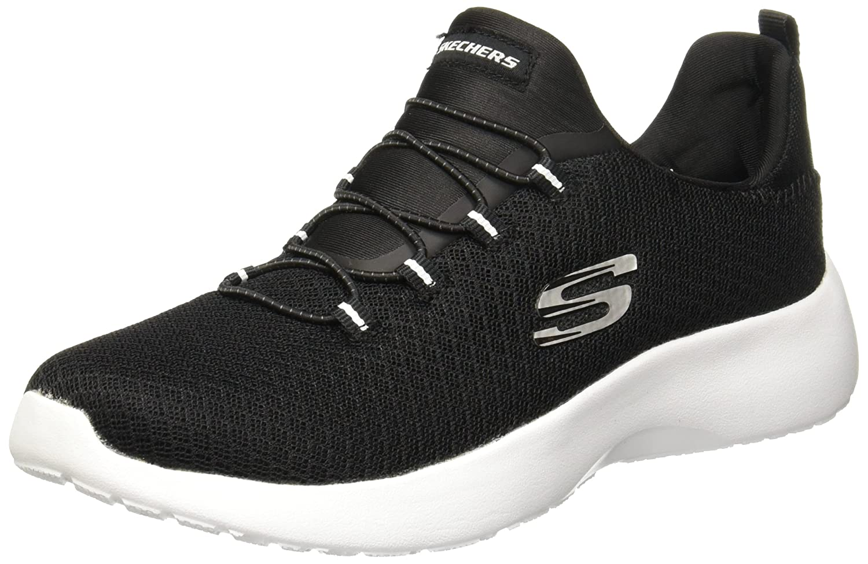 Black  White Skechers Women's Dynamight Sneakers