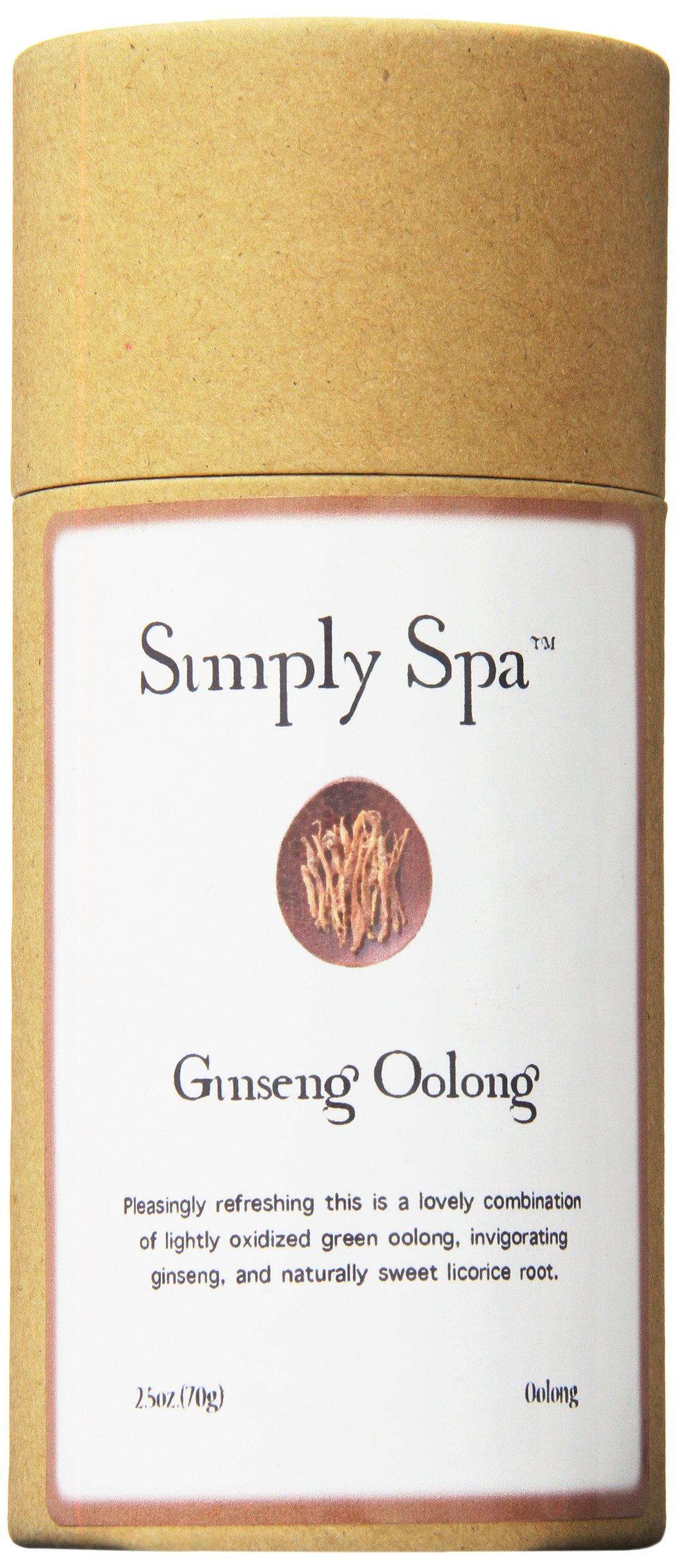 Simply Spa Ginseng Oolong Tea, 2.5 Ounce