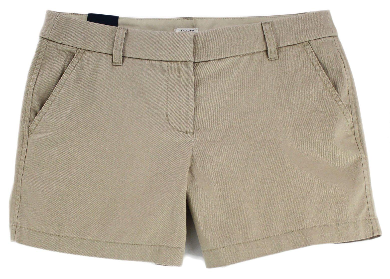 J. Crew - Women's - 5'' Chino Shorts (10, British Khaki)