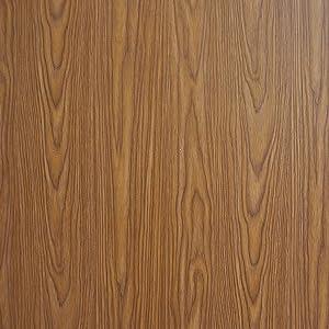 "Brown Wood Wallpaper Self Adhesive Wood Peel and Stick Wallpaper Wood Grain Wallpaper Removable Wallpaper Wood Texture Wall Covering Shelf Drawer Liner Faux Vinyl 17.7""x78.7"""