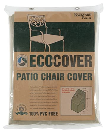 Mr. Bar B Q Backyard Basics Eco Cover PVC Free Premium Patio Chair Cover