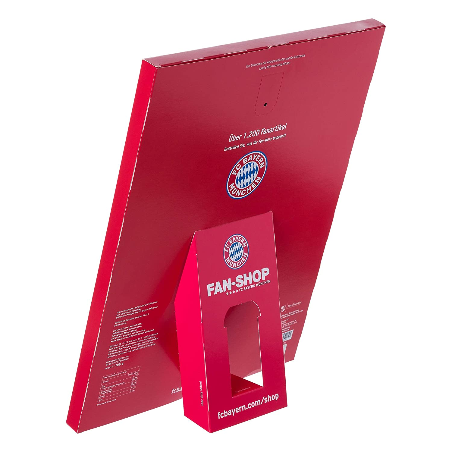 FC Bayern Munich XXL Advent Calendar Filled with Autograph Cards and 25 Milk Chocolate Bars cartoons4you