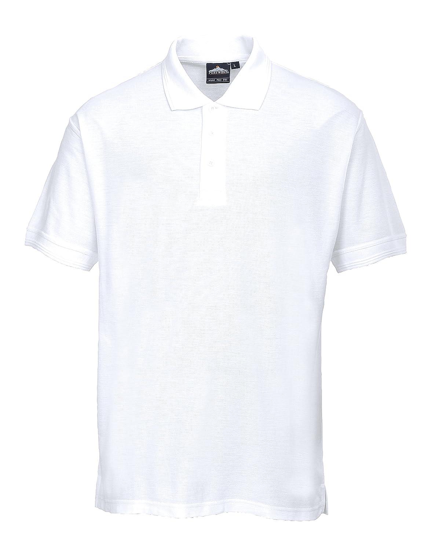 Portwest B101WHTMED - Polo de manga corta (poliéster y algodón ...