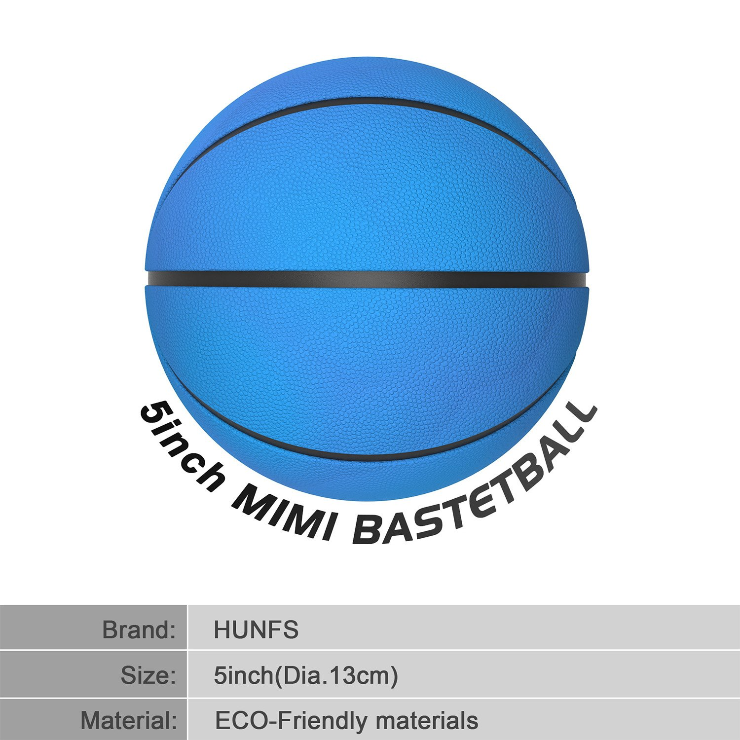 Mini Basketball for Kids[2Pack],HUNFS 5 Inch Small Basketball (Soft and Bouncy +Bright Color+Environmental Protection Material)