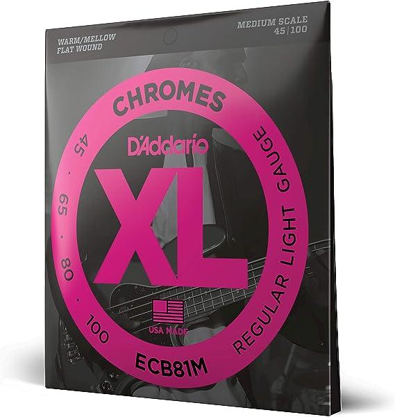 D'Addario ECB81M Chromes Bass Guitar Strings