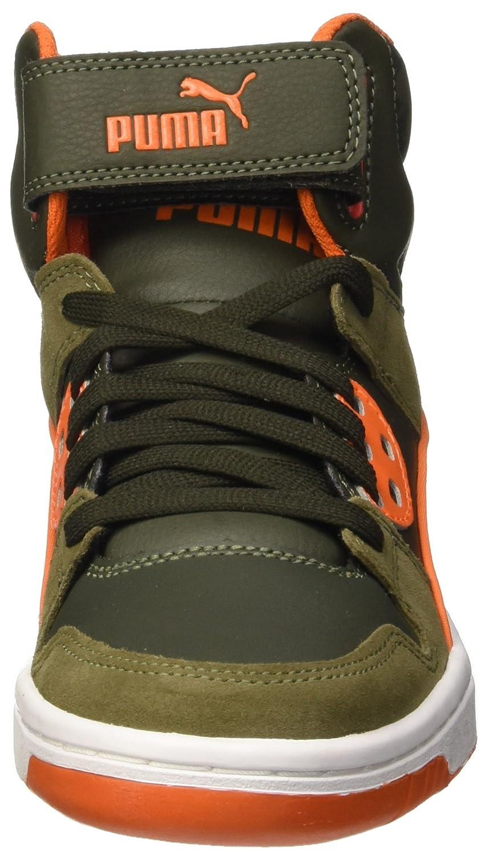 081e298b3b9a8b Puma Boys Rebound Street Wcamo Jr Trainers Green Verde (Burnt Olive Forest  Night Bianco Arancione) 5 UK  Amazon.co.uk  Shoes   Bags