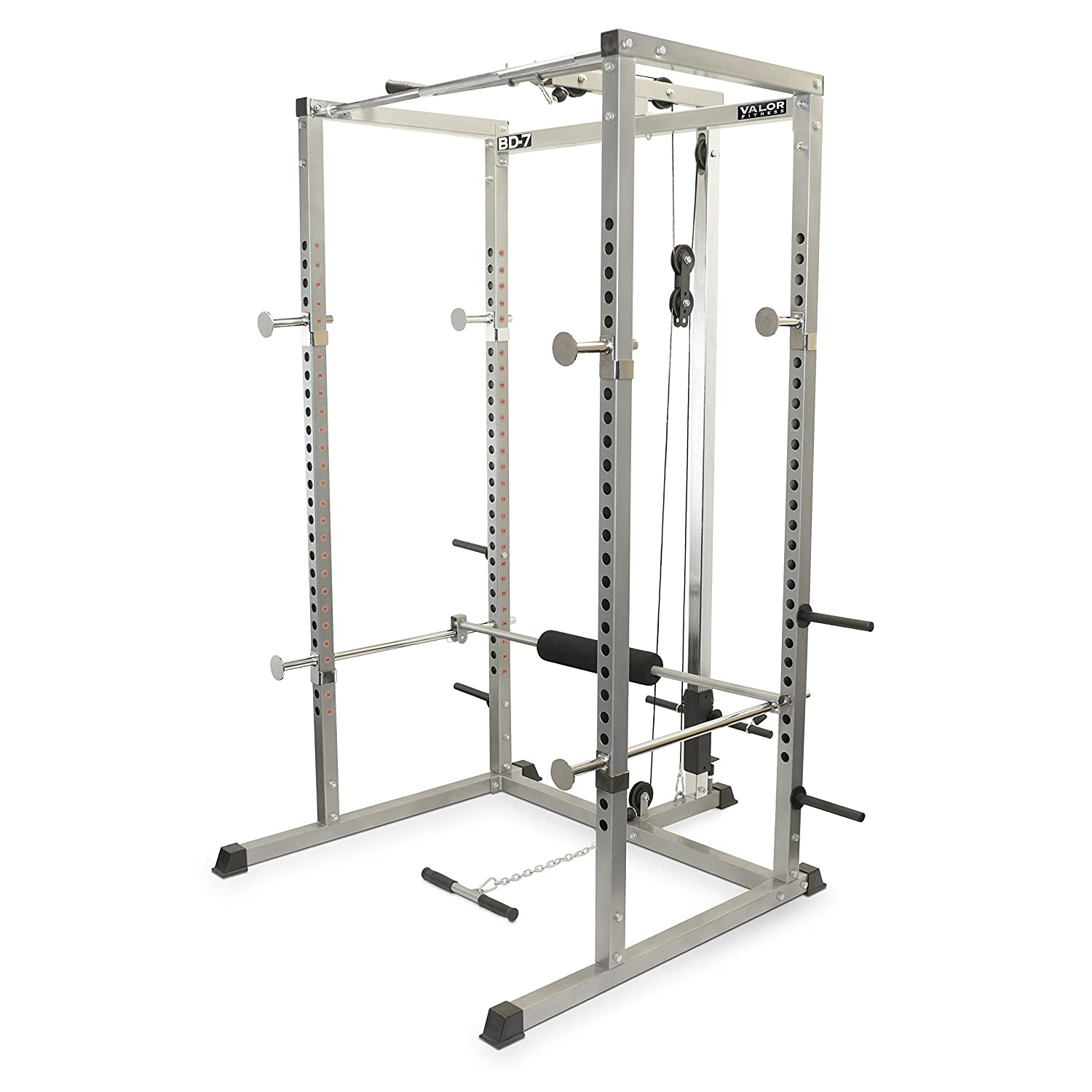 #4 Valor Fitness BD-7 Power Rack With Lat Pull Attachment
