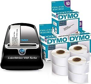 DYMO LabelWriter 450 Turbo Thermal Label Printer (1752265) + 6 bonus Address Rolls