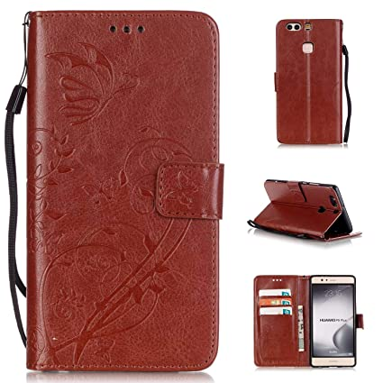 new arrival a62c1 33387 Amazon.in: Buy Bangcool Huawei P9 Plus Case Embossed Protective Flip ...