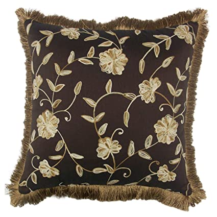 Amazon Van Ness Lancaster Brush Fringe Decorative 40inch Throw Amazing Decorative Pillows With Fringe