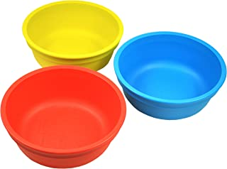 product image for Re-Play Made in USA 3pk 12 oz. Bowls in Red, Yellow and Sky Blue | Made from Eco Friendly Heavyweight Recycled Milk Jugs and Polypropylene - Virtually Indestructible (Preschool)