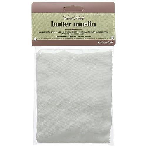 Kitchen Craft KCBMUSLIN Home Made Butter Muslin - White
