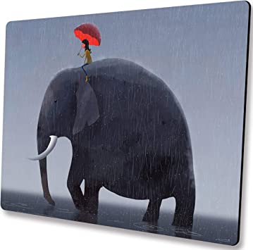 Customized Yaaasss Eco Friendly Cloth with Neoprene Rubber Mouse Pad