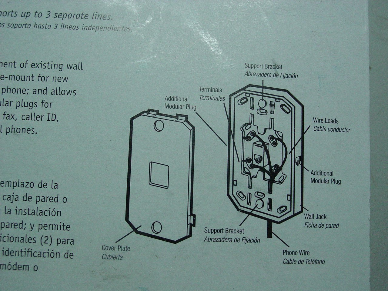 Wall Mount With 3 Jacks Modular Outlet For Phone Or Jack Wiring Diagram In Addition On Modem Connections Electronics