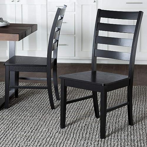 WE Furniture Modern Farmhouse Wood Kitchen Dining Chair