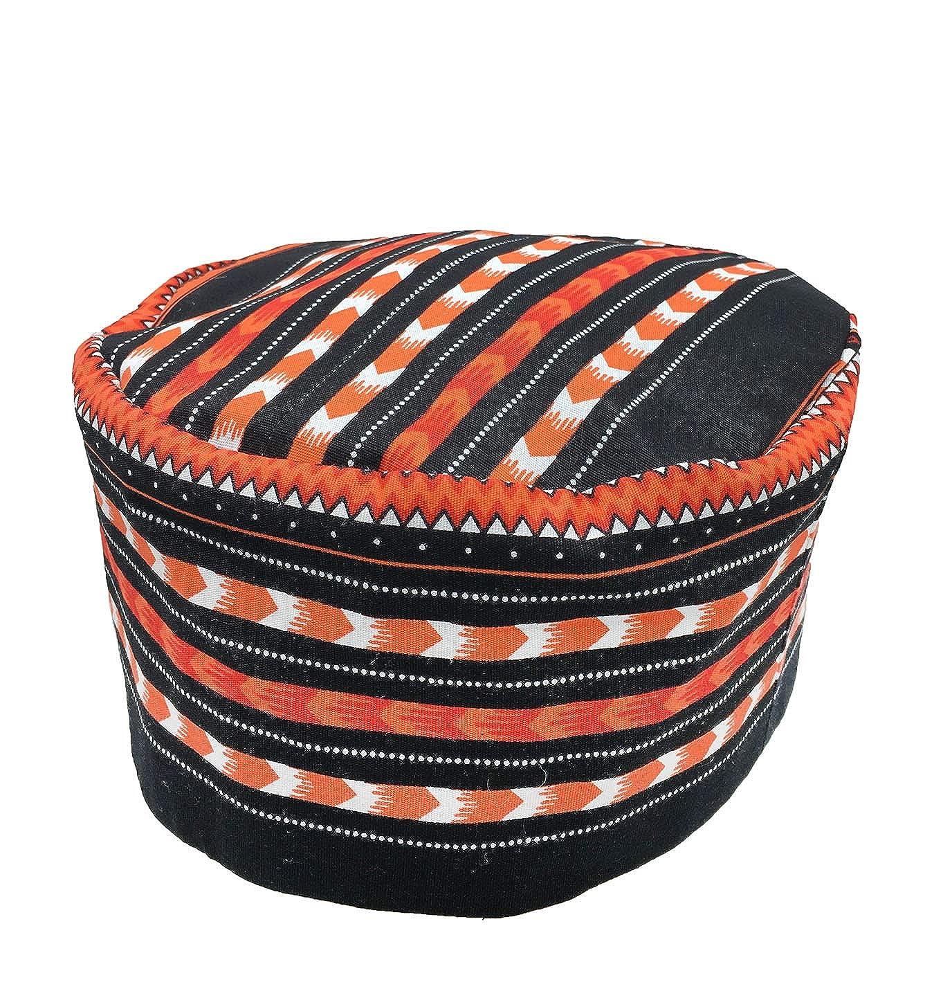 Vipada Handmade African Dashiki Hat Kente Pattern Kufi Kofi Hat Cap
