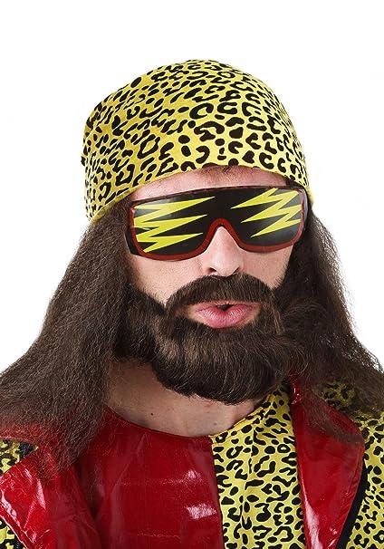 Amazon.com: Kit de peluca de Randy Savage., Estándar ...