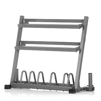 XMark recubierto placa y peso Rack con doble barra Vertical almacenamiento xm-4467: Amazon.es: Deportes y aire libre