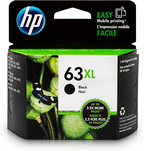 Amazon.com: Cartucho de tinta negra original HP 63 XL ...