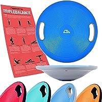MSPORTS Balance Board Premium 40 cm Durchmesser inkl. Übungsposter - Therapiekreisel Physiotherapie Wackelbrett