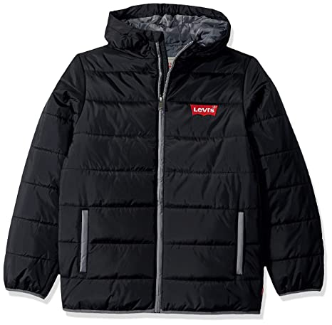 Levi's Big Boys' Puffer Jacket, Black, S
