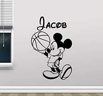 Amazoncom Personalized Mickey Mouse Wall Decal Boy Sport - Custom vinyl wall decal equipment