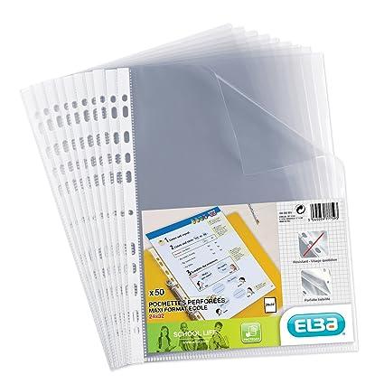 Elba - Fundas perforadas transparentes de polipropileno para ...