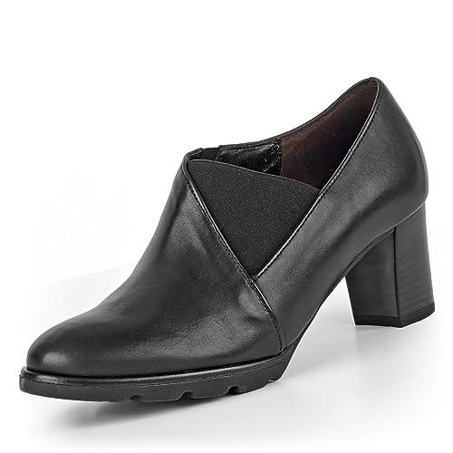Gabor 92.102.57 - Mocasines de Piel Lisa para Mujer Negro Negro 37.5 EU: Amazon.es: Zapatos y complementos