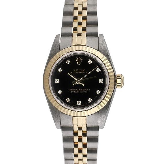 Rolex Ostra Perpetual automatic-self-wind Negro Mujer Reloj 76193 (Certificado de segunda