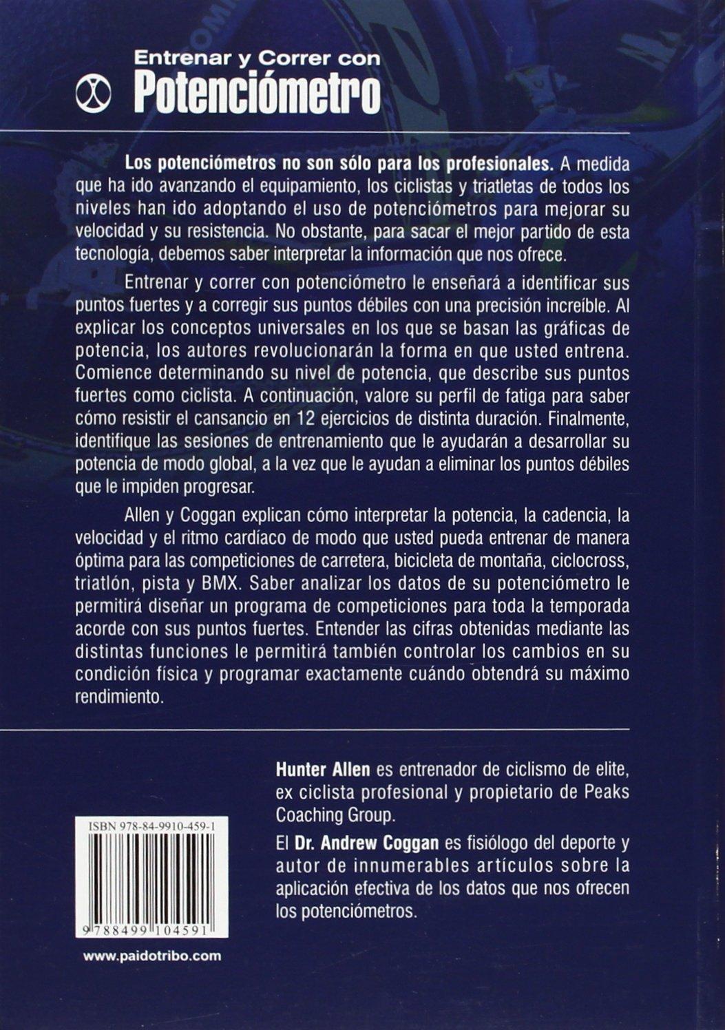 Entrenar y correr con potenciómetro (Spanish Edition): Hunter Allen ...